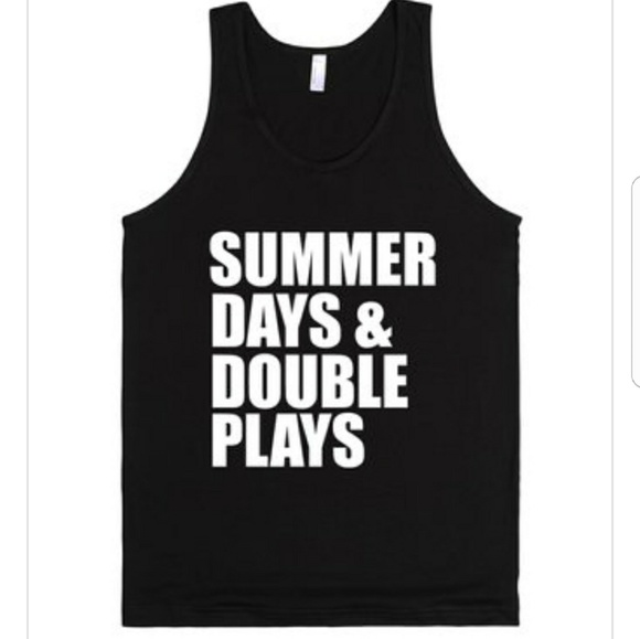 acef97d58b15 Summer Days and Double Plays Tank Top
